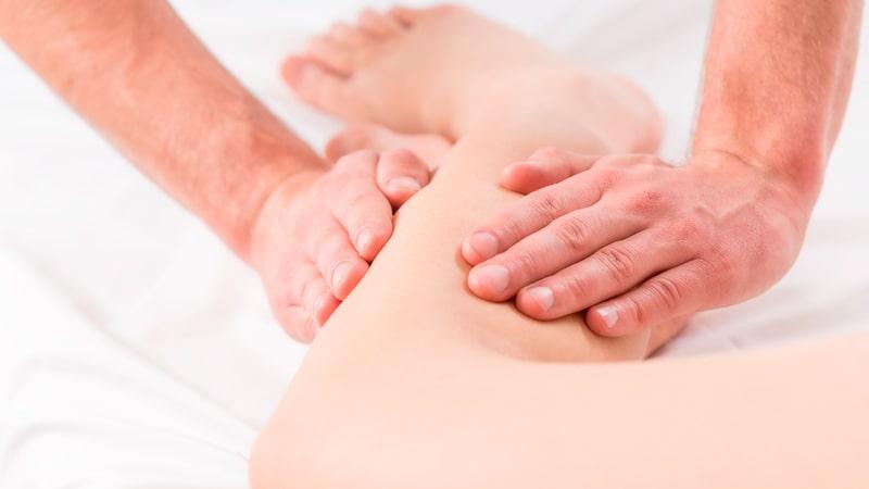 Drenaje linfático en las piernas