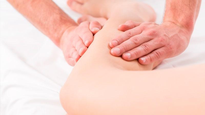Reflexologia en la rodilla