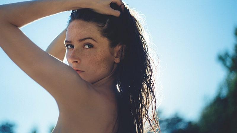 Mujer con piel cuidada
