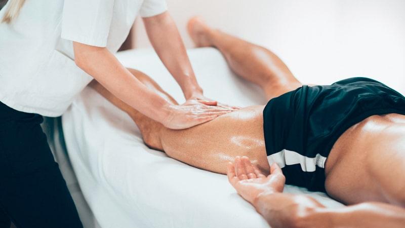 Masaje deportivo por lesión