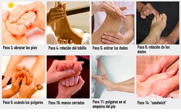 como hacer masaje en los pies