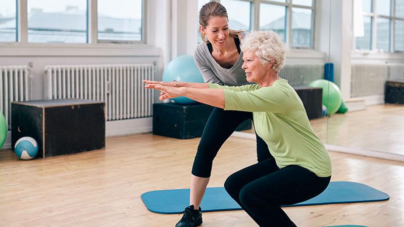 Entrenadores personales para personas mayores