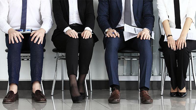 Esperando para entrevista de trabajo