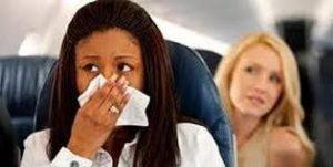 mal olor en avion