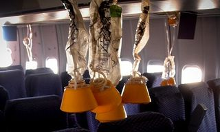 mascarillas de oxigeno en avion