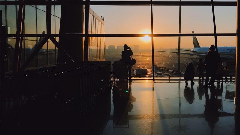 Atardecer desde el aeropuerto
