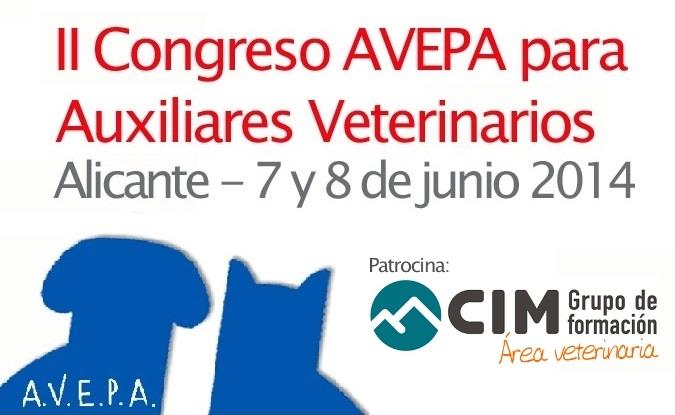 noticias cim general cim valencia cim barcelona cim alicante veterinaria cim murcia asistencia veterinaria CIM Formación patrocina el II Congreso para Auxiliares de veterinaria de AVEPA