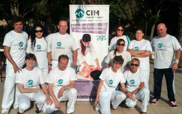 Quiromasajistas de CIM Formación colaboran en la I Carrera por la Diabetes Valencia 12