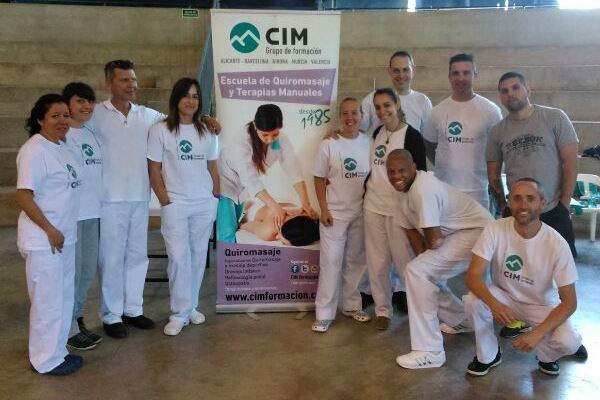 Masajistas de CIM en la Marcha cicloturista BTT Casinos 14