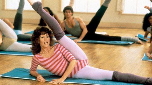Jane Fonda y el aeróbic con música