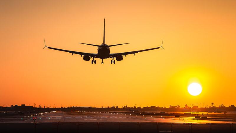 aterrizaje de avión