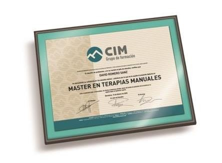 Título del Máster de Terapias Manuales